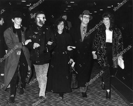 Stock Picture of Barbara Bach, Ringo Starr, Olivia Harrison, Elton John and Renate Blauel