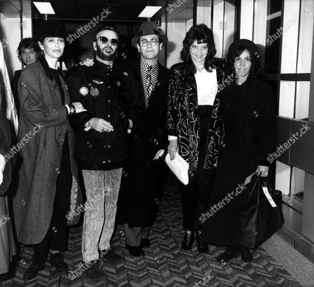 Barbara Bach, Ringo Starr, Elton John, Renate Blauel, Olivia Harrison