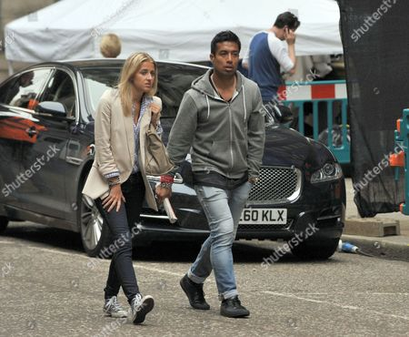 Ex-footballer Bobby Petta (R), who is working as an extra