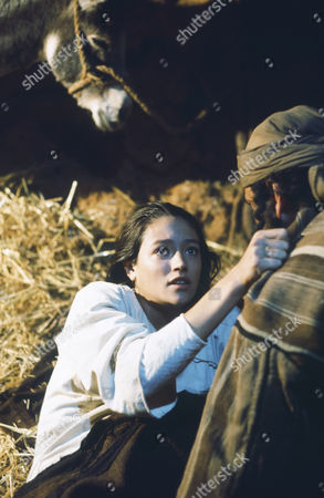 (l-r) Olivia Hussey as Mary, the mother of Jesus, Yorgo Voyagis as Joseph