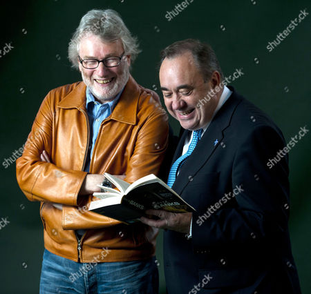 Stock Photo of Iain M. Banks and First Minister Alex Salmond