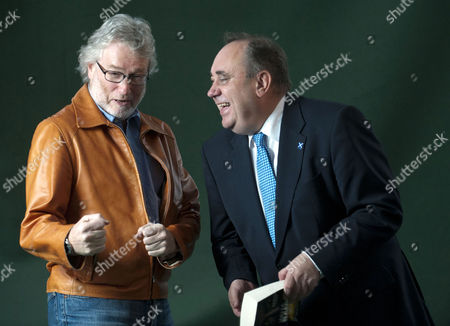 Stock Picture of Iain M. Banks and First Minister Alex Salmond
