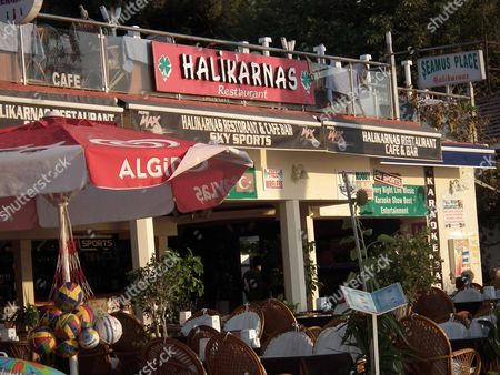 The Halikarnas bar and restaurant where Recep Cetin used to work - staff claim he was fired last year after becoming bolshy.