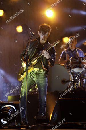 The Arctic Monkeys headline the V Festival at Hylands Park in Chelmsford on 20/08/11