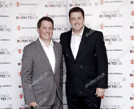 Show winner Jason Manford with Save The Children Chief Executive Justin Forsyth