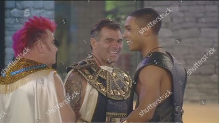 Darryn Lyons, Paddy Doherty and Lucien Laviscount during the Egyptian task