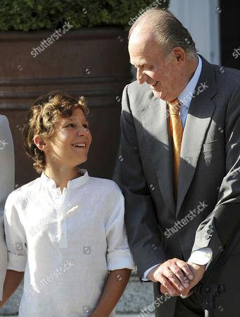 Prince Felipe Juan Froilan and King Juan Carlos
