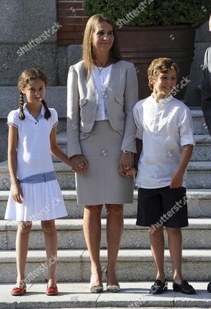 Princess Victoria Federica, Princess Elena and Prince Felipe Juan Froilan