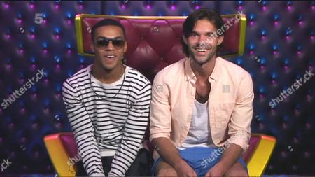 Lucien Laviscount and Bobby Sabel in the diary room