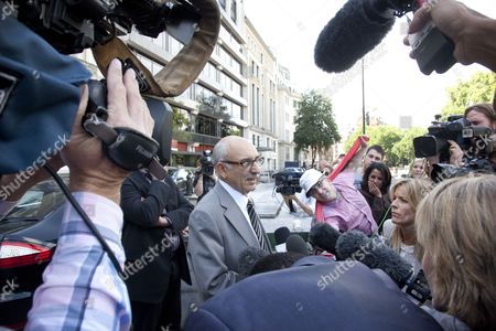 Mahmud Nacua, the Ambassador for Libya in the United Kingdom talking to the press