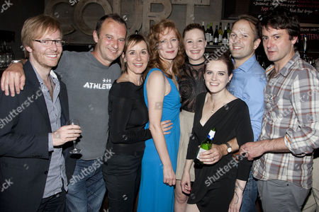 Stock Photo of Joe Hill-Gibbins, Phil Cornwell, Alexandra Gilbreath, Sasha Waddell, Romola Garai, Penelope Skinner, Nicholas Burns and Dominic Rowan