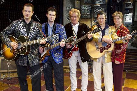 Derek Hagen, Oliver Seymour-Marsh, Rod Stewart, Michael Malarkey and Ben Goddard