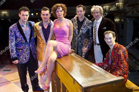 Oliver Seymour-Marsh, Michael Malarkey, Francesca Jackson, Derek Hagen, Rod Stewart and Anthony Strong