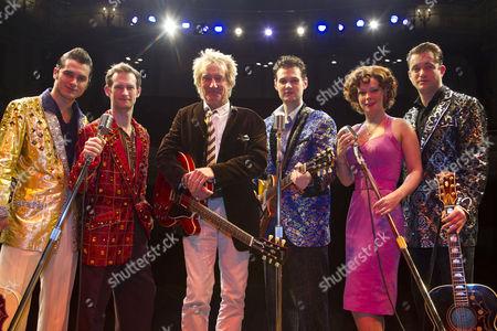Michael Malarkey, Anthony Strong, Rod Stewart, Oliver Seymour-Marsh, Francesca Jackson and Derek Hagen