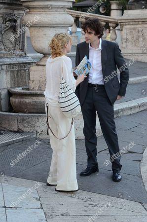 Alison Pill and Flavio Parenti