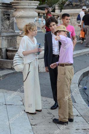 Alison Pill, Flavio Parenti and Woody Allen