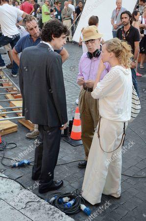 Flavio Parenti, Woody Allen and Alison Pill