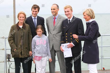 Prince Joachim of Belgium has finished his training on the Belgian navy ship Godetia. Princess Astrid, Prince Lorenz, Prince Amedeo, Princess Maria Laura and Princess Laetitia Maria attend the graduation ceremony