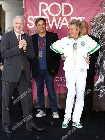 Randy Phillips (President and CEO of AEG Live), Gary Selesner (Caesars Palace President), Arnold Stiefel (Stiefel Entertainment CEO), John Meglen (Co-CEO and President of AEG Live/Concerts West) and Rod Stewart