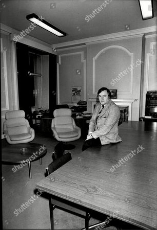 Councillor Ted Knight Leader Of The Labour Council In Lambeth In His Office.