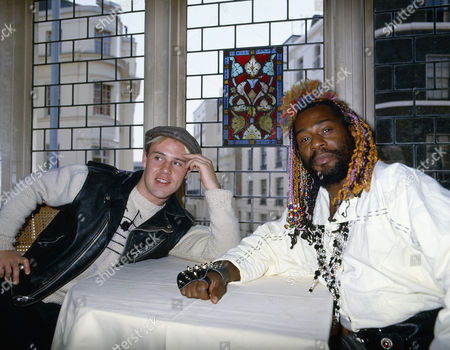 Thomas Dolby with George Clinton of Parliament, Funkadelic