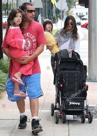 Adam Sandler with wife Jacqueline Samantha Titone and daughters Sadie and Sunny
