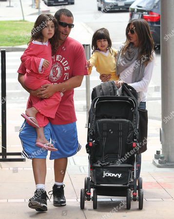 Adam Sandler with wife Jacqueline Samantha Titone and daighters Sadie and Sunny
