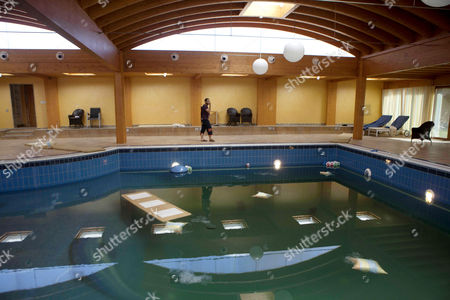 Stock Image of The indoor swimming pool at the home of Aisha, daughter of Muammar Gaddafi
