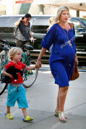 Tori Spelling with son Liam Aaron Mcdermott