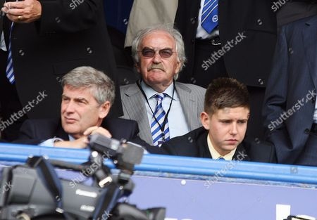Brighton fan Des Lynam at a Portsmouth v Brighton and Hove Albion football match in Portsmouth at Fratton Park, Britain
