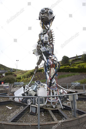 The WEEE sculpture at the Eden Project, Cornwall, England, Britain