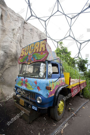 Sugar truck in the Rainforest Area at the Eden Project, Cornwall, England, Britain