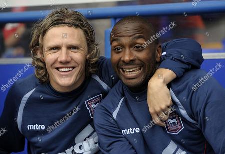 Jimmy Bullard and Jason Scotland of Ipswich Town pose for cameras