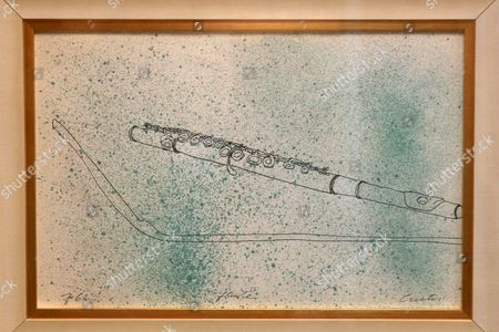 Flute ink on paper drawing. Estimate: $2,000-$3,000