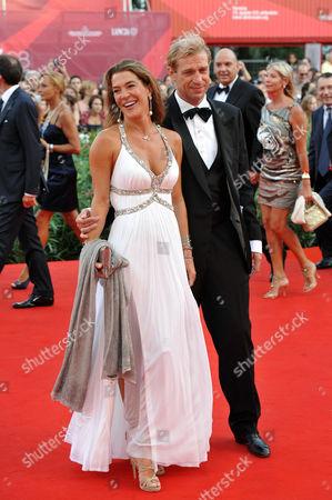 Stock Photo of Fiona Swarovski and Toto Bergamo Rossi