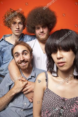 Stock Image of Yuck - Daniel Blumberg, Max Bloom, Mariko Doi and Jonny Rogoff