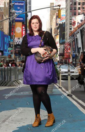 Stock Photo of Lorna Nixon with her 'Jagged Thistle' handbag
