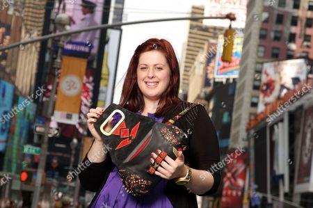 Lorna Nixon with her 'Jagged Thistle' handbag