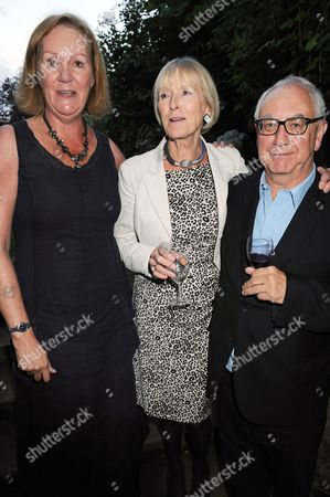 Hilary Rhoda Boyd with her publisher, from Quercus, Jane Wood and Don Boyd