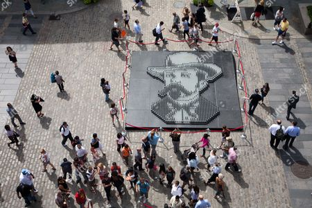 Jack Daniel's set a world record for the Largest Glass Bottle Mosiac during the Jack Daniel's Birthday Bash at the South Street Seaport. The mosaic created by artist Herb Williams set the record for Largest Bottle Mosaic made with 2120 bottles.