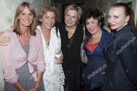 Gwyneth Strong, Suzanne Bertish, Jennifer Saunders, Ruby Wax and Judith Owen