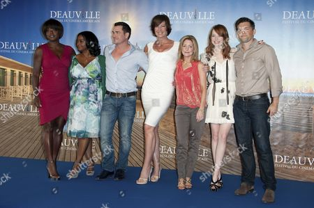 Viola Davis, Octavia Spencer, Tate Taylor, Allison Janney, Kathryn Stockett and Emma Stone