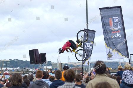 Editorial image of Animal BMX Tour, Falmouth, Cornwall, Britain - 09 Aug 2011