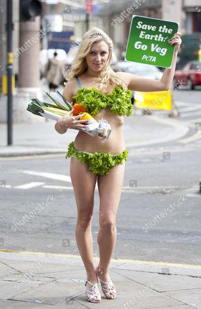 Stock Photo of Miss Earth contestant Margarita Nazarenko