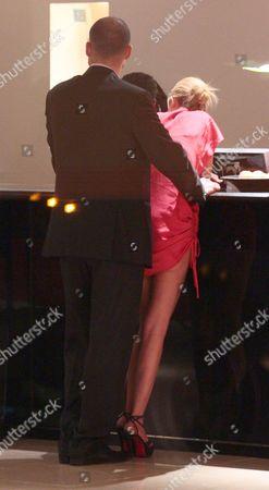 Editorial image of Tara Reid and Zack Kehayov leaving the C restaurant, London, Britain - 05 Sep 2011