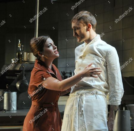 Katie Lyons as Monique and Tom Brooke as Peter