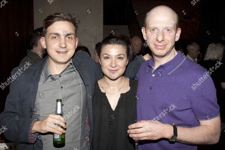 Stock Picture of Joel Gillman (Dave Simmonds), Alexis Zegerman (Cissie) and Steve Furst (Hymie Kossof)