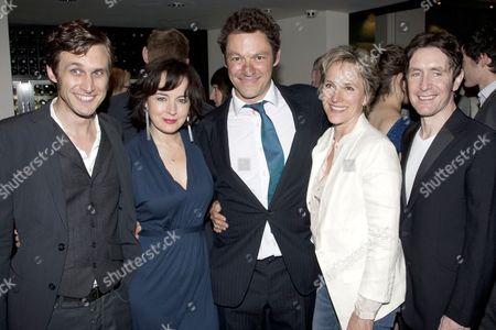 Martin Hutson (Joseph Keyston), Amanda Drew (Anne Butley), Dominic West (Ben Butley), Penny Downie (Edna Shaft) and Paul McGann (Reg Nuttall)