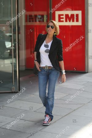 Sonia Tatar, ex mistress of Arsenal Manager Arsene Wenger, visiting London to deliver her new single to the offices of EMI Records