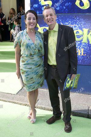 Emma Brunjes and Frank Skinner